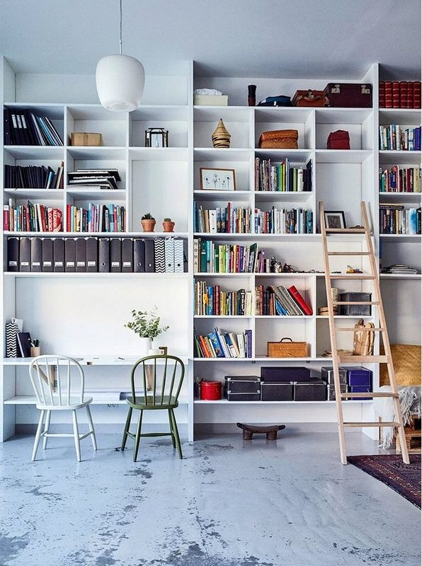 16 Fantastic Floor To Ceiling Bookshelves With Ladder 09
