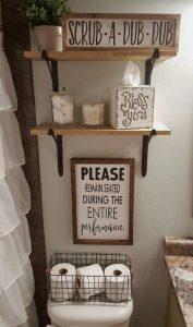 16 Kinds Of Farmhouse Bathroom Accessories Ideas 05