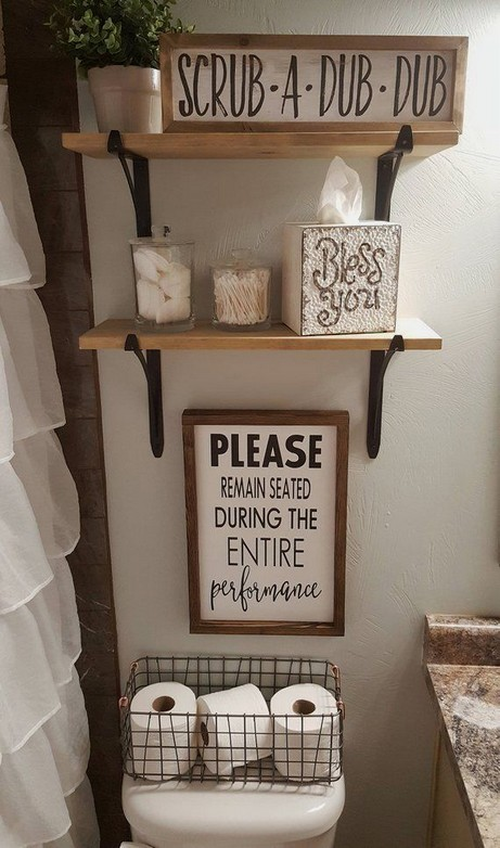 16 Kinds Of Farmhouse Bathroom Accessories Ideas 05