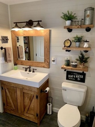 16 Kinds Of Farmhouse Bathroom Accessories Ideas 09