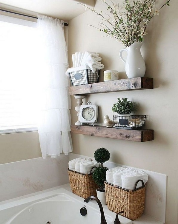 16 Kinds Of Farmhouse Bathroom Accessories Ideas 11