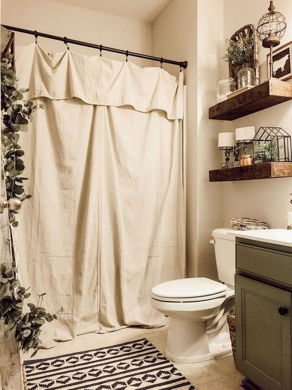 16 Kinds Of Farmhouse Bathroom Accessories Ideas 12