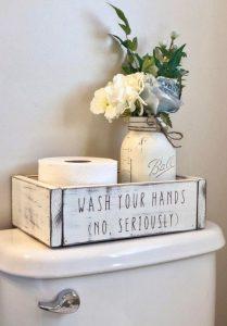16 Kinds Of Farmhouse Bathroom Accessories Ideas 14