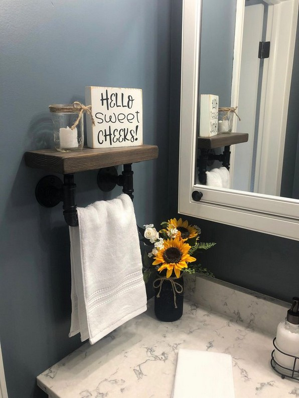16 Models Bathroom Shelf With Industrial Farmhouse Towel Bar – Tips For Buying It 03