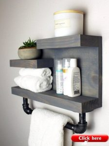 16 Models Bathroom Shelf With Industrial Farmhouse Towel Bar – Tips For Buying It 09
