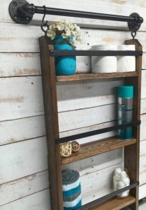 16 Models Bathroom Shelf With Industrial Farmhouse Towel Bar – Tips For Buying It 10
