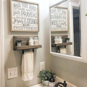 16 Models Bathroom Shelf With Industrial Farmhouse Towel Bar – Tips For Buying It 12