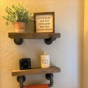16 Models Bathroom Shelf With Industrial Farmhouse Towel Bar – Tips For Buying It 14