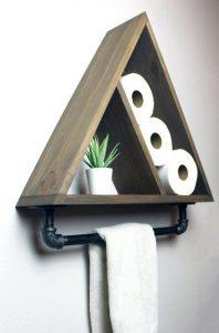 16 Models Bathroom Shelf With Industrial Farmhouse Towel Bar – Tips For Buying It 20