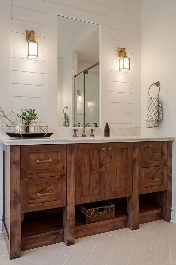 17 Best Of Modern Farmhouse Bathroom Vanity Decoration Ideas 05