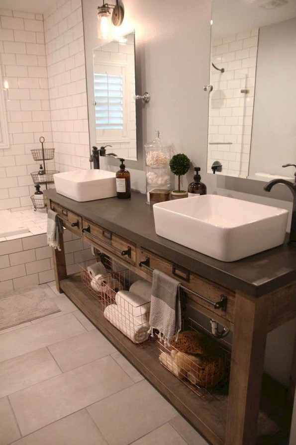 17 Best Of Modern Farmhouse Bathroom Vanity Decoration Ideas 17