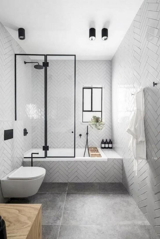 18 Comfy Bathroom Floor Design Ideas 24