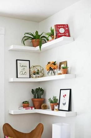18 Luxury Corner Shelves Ideas 15