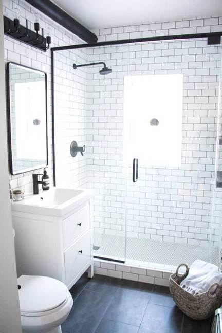 17 Awesome Small Bathroom Tile Ideas 02