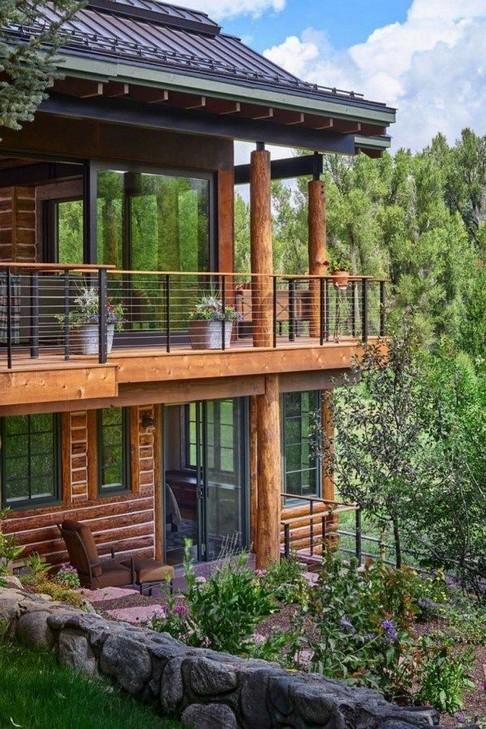 17 Beautiful Mountain Cabin Plans Hillside 01