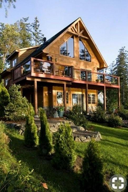 17 Beautiful Mountain Cabin Plans Hillside 05