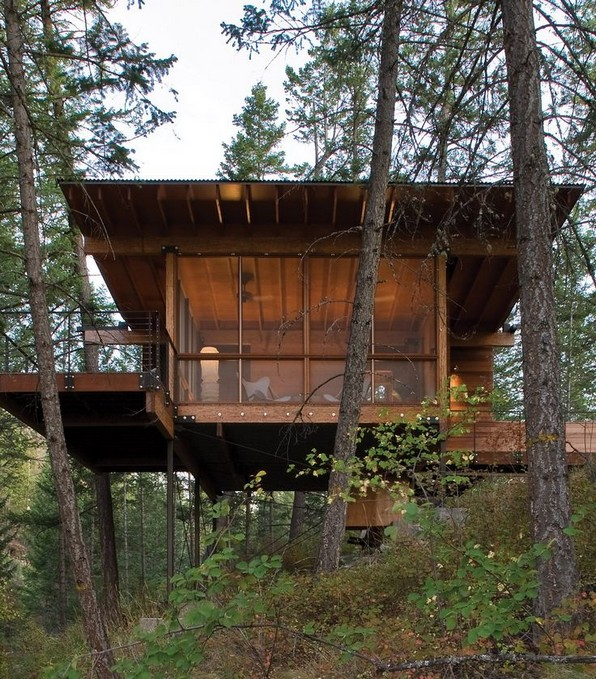 17 Beautiful Mountain Cabin Plans Hillside 08