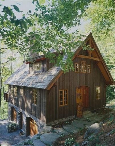17 Beautiful Mountain Cabin Plans Hillside 09