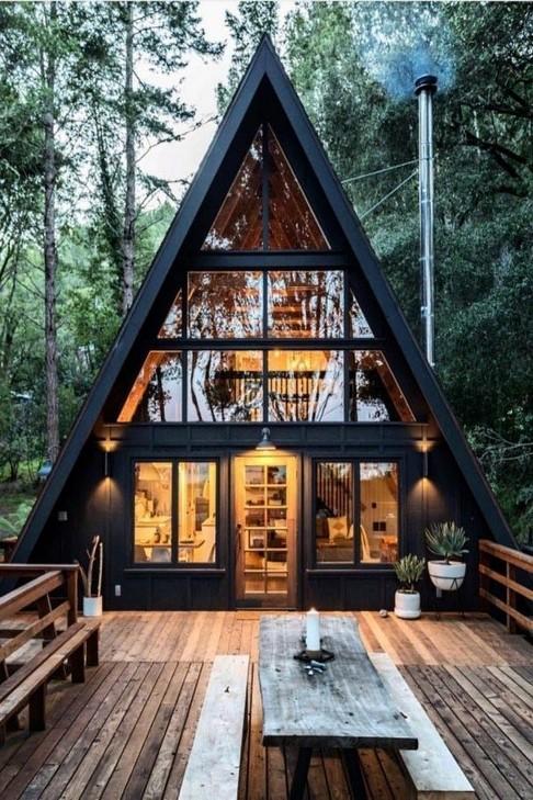 17 Beautiful Mountain Cabin Plans Hillside 15