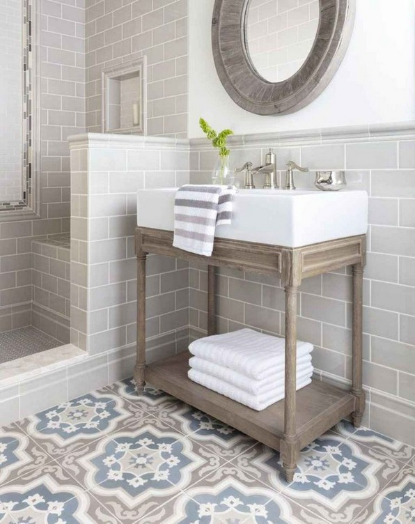 19 Beautiful Bathroom Tile Ideas For Bathroom Floor Tile 12