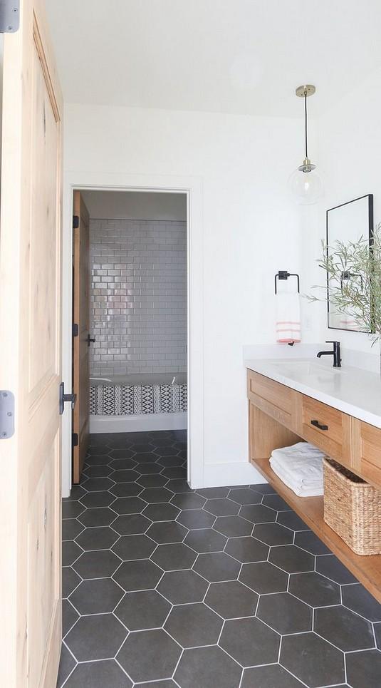 19 Beautiful Bathroom Tile Ideas For Bathroom Floor Tile 21